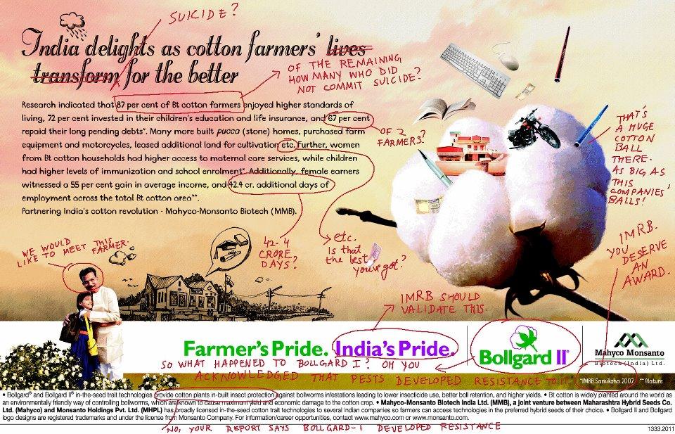 Resultado de imagen de el algodón transgénico de Monsanto