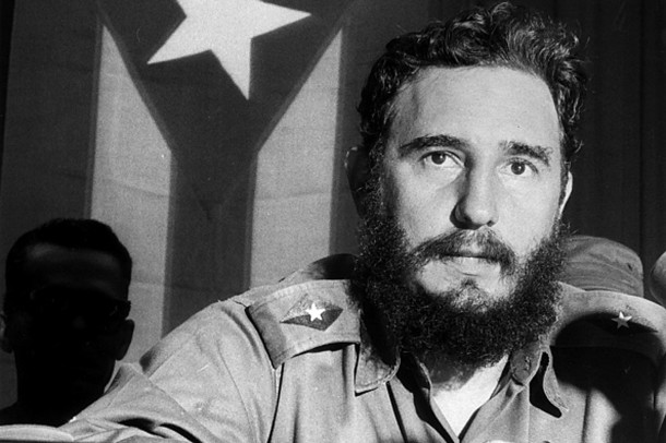 Fidel Castro - Revolutionary, Politician, Cuba*13.08.1926-adressing- 1960ies